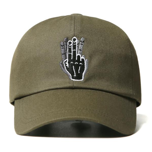 [VIBRATE] - HAND SHAKE SIGN BALL CAP (khaki)