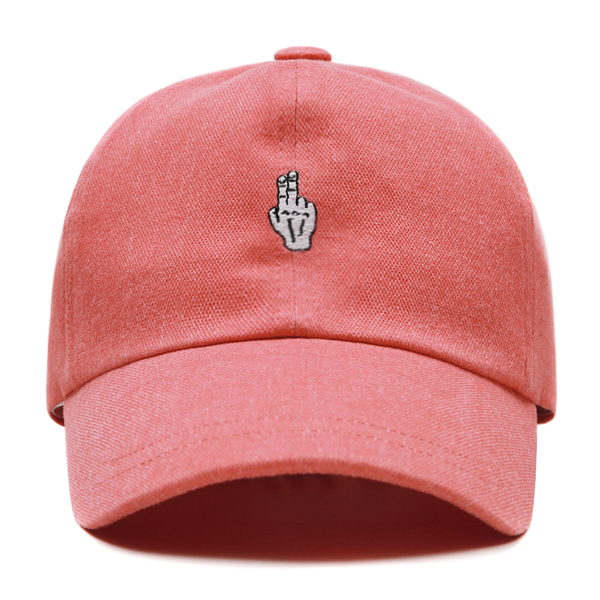 [VIBRATE] - FINGER BALL CAP (WASHING PINK)