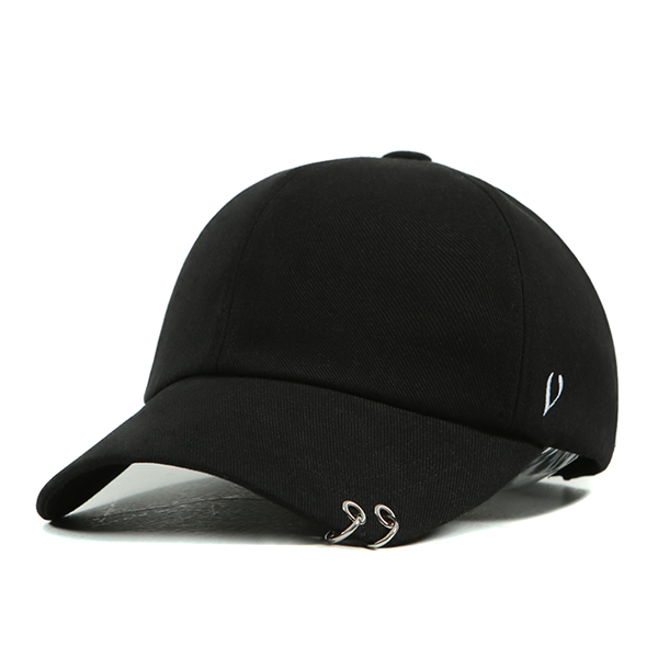 [VIBRATE] BLACK LINE - TWIN RING BALL CAP (black)