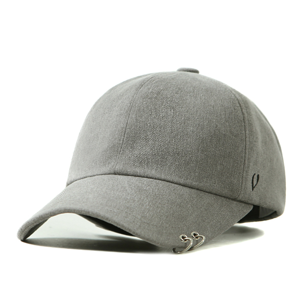 [VIBRATE] BLACK LINE - TWIN RING BALL CAP (gray)