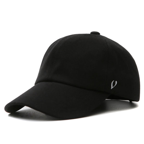 [VIBRATE] BLACK LINE - REAL COTTON BALL CAP (black)