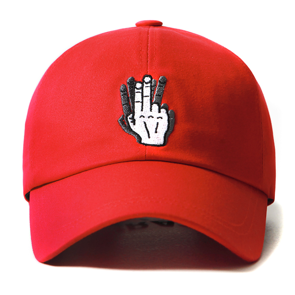 [VIBRATE] - HAND SHAKE SIGN BALL CAP (red)