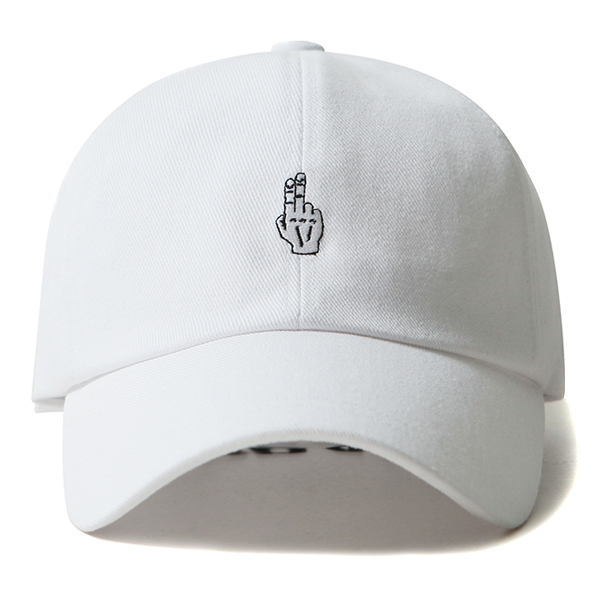 [VIBRATE] - FINGER BALL CAP (WASHING WHITE)