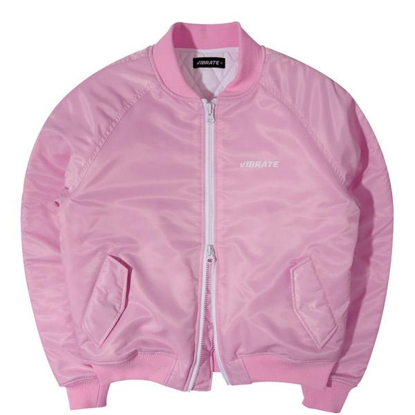 [VIBRATE] - SIGNATURE NAME MA-1 JACKET (pink)