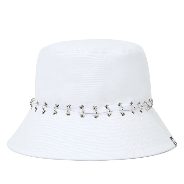[VIBRATE] V8 - PIERCING DIVISION BUCKET HAT (white)