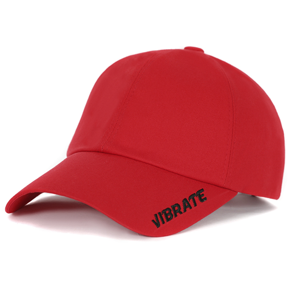 [VIBRATE] - SIDE LOGO BALL CAP (RED)