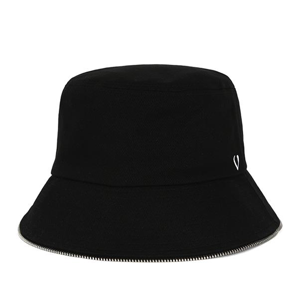 [VIBRATE] BLACK LINE - ZIPPER DETAIL BUCKET (black)