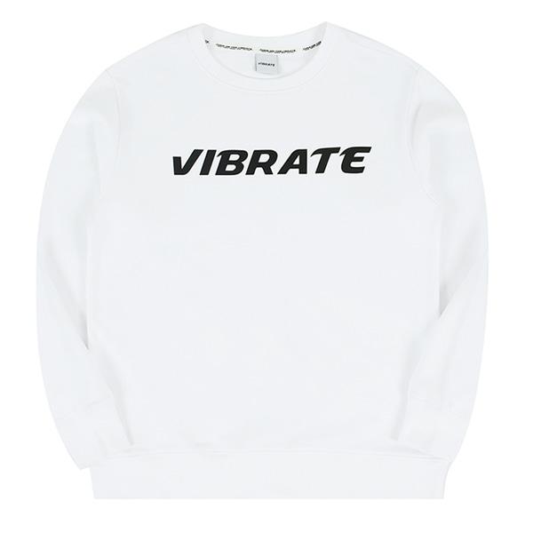 [VIBRATE] - BASIC LOGO SWEAT SHIRT (white)