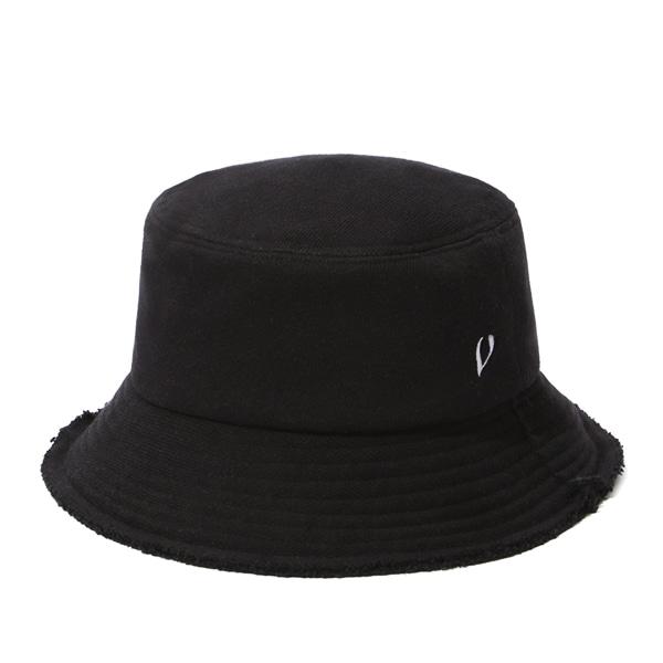 [VIBRATE] BLACK LINE - HEAVY COTTON BUCKET HAT (BLACK)