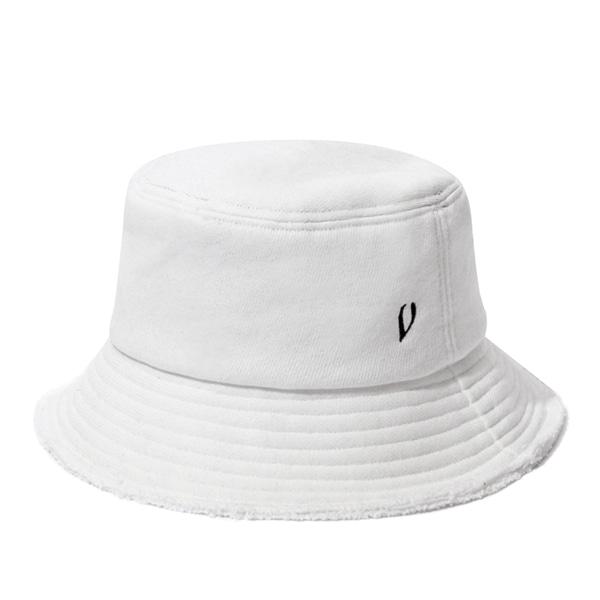 [VIBRATE] BLACK LINE - HEAVY COTTON BUCKET HAT (WHITE)