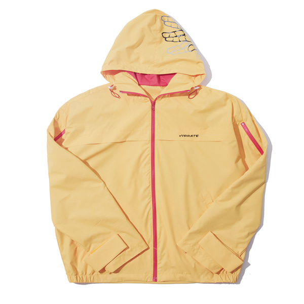 [VIBRATE]- SIDE ZIPPER WINDBREAKER (yellow)