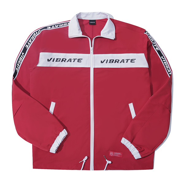 [VIBRATE] - LOGO STRAP COACH JACKET (red)