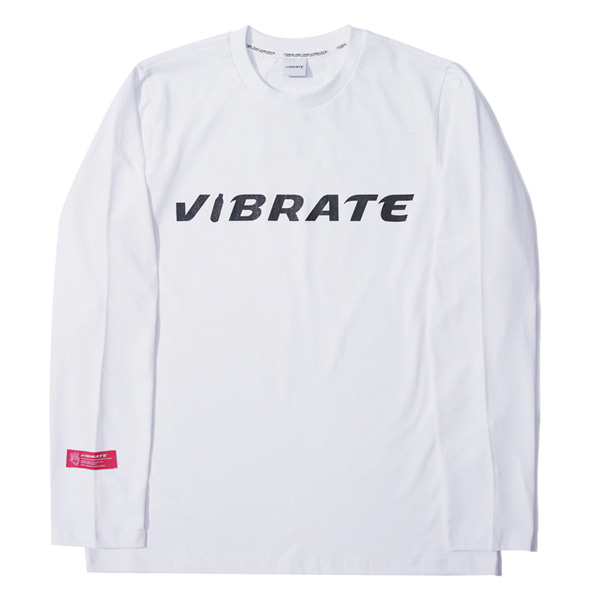 [VIBRATE] - BOTTLE LOGO LONGSLEEVE (white)