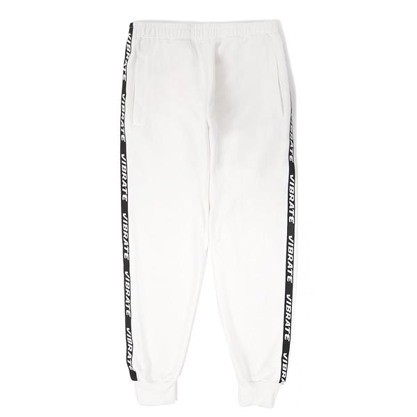 [VIBRATE] - LOGO WEBBING TAPE JOGGER PANTS (WHITE)