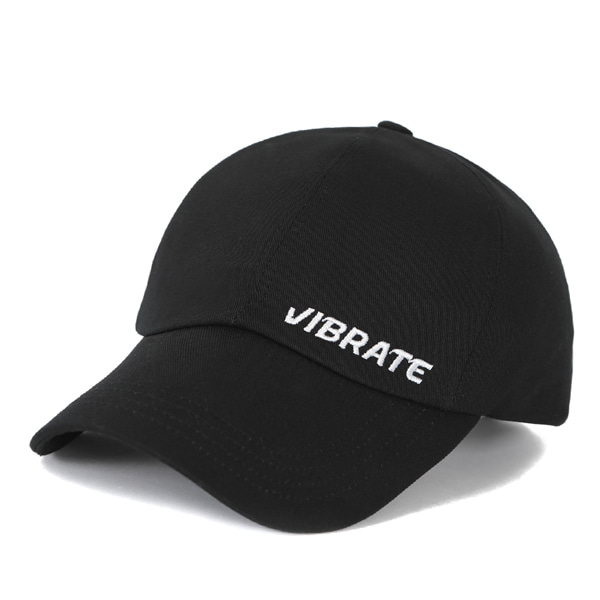 [VIBRATE] - BASIC SIDE LOGO BALL CAP (BLACK)