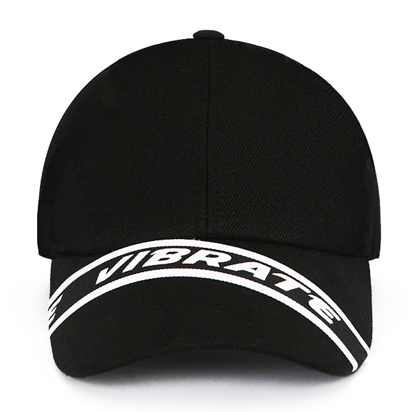 [VIBRATE] - STRAP BALL CAP (BLACK)