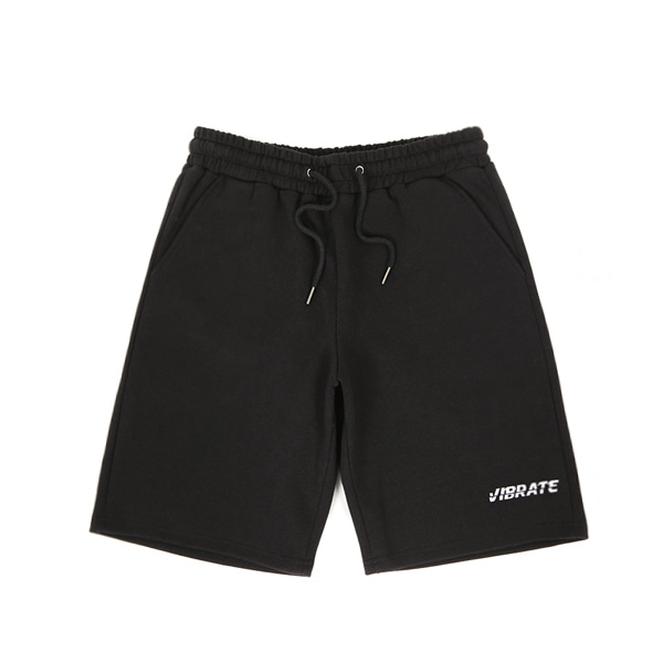 [VIBRATE] - BASIC LOGO SHORT PANTS (BLACK)