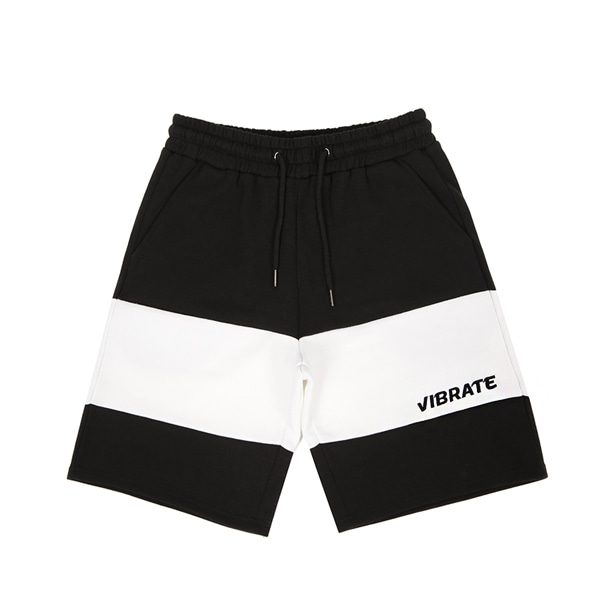[VIBRATE] - COLOR INVERSION SHORT PANTS (BLACK)