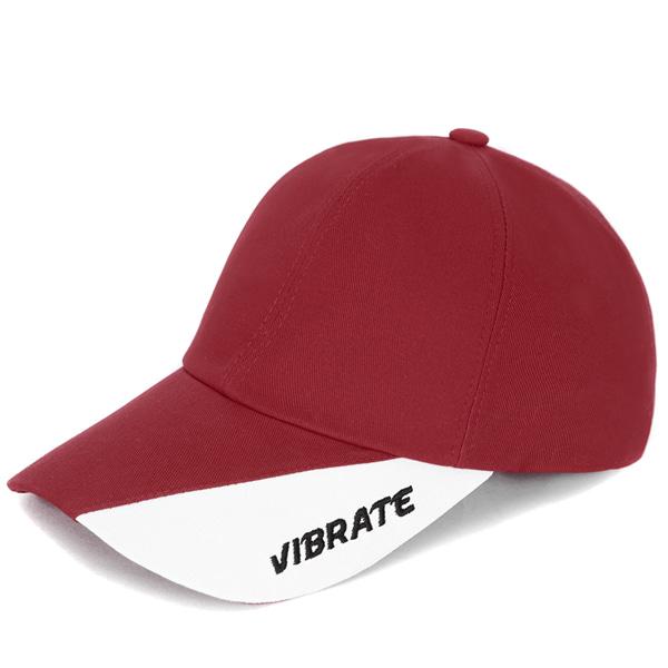 [VIBRATE] - TWO TONE BALL CAP (WINE&WHITE)