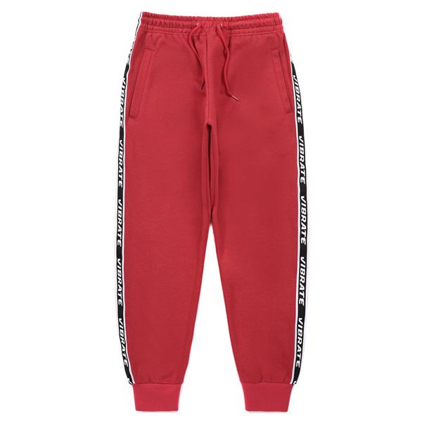 [VIBRATE] - LOGO WEBBING TAPE JOGGER PANTS (RED)