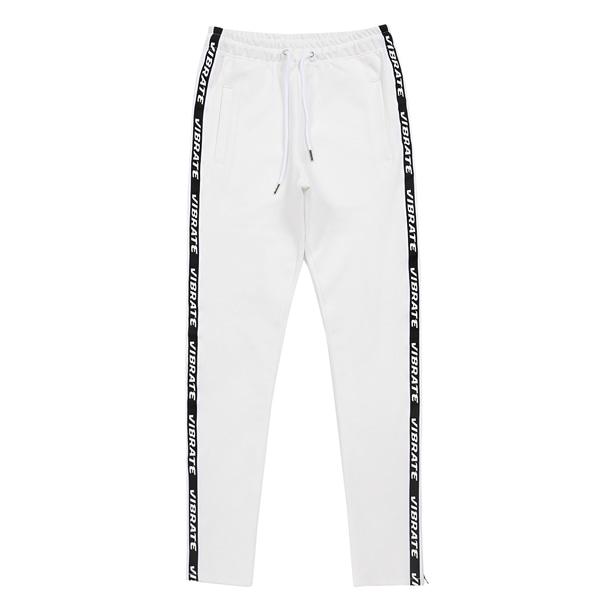 [VIBRATE] - SIDE ZIPPER TAPING PANTS (WHITE)