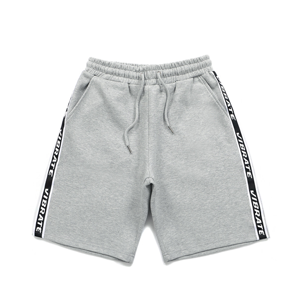 [VIBRATE] - BASIC LOGO WEBBING TAPE SHORT PANTS (GRAY)
