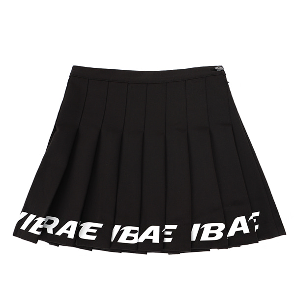 [VIBRATE] - BOTTOM LOGO TENNIS SKIRT (woman) (BLACK)