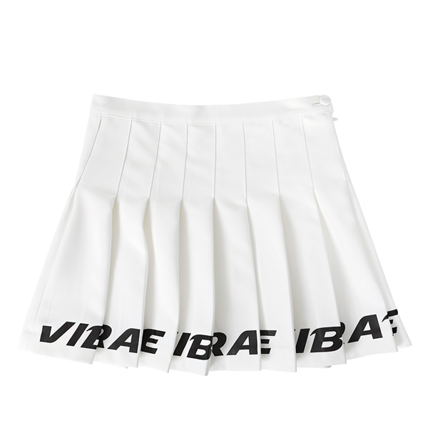 [VIBRATE] - BOTTOM LOGO TENNIS SKIRT (woman) (WHITE)
