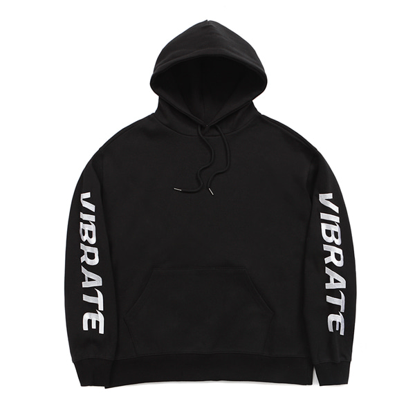 [VIBRATE] - DOUBLE SIDE LOGO HOODIE (BLACK)