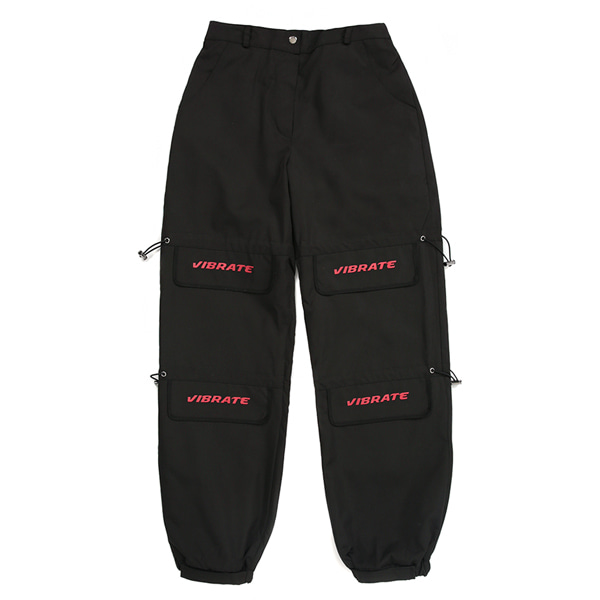 [VIBRATE] - LID STRING POINT JOGGER PANTS (woman) (BLACK)