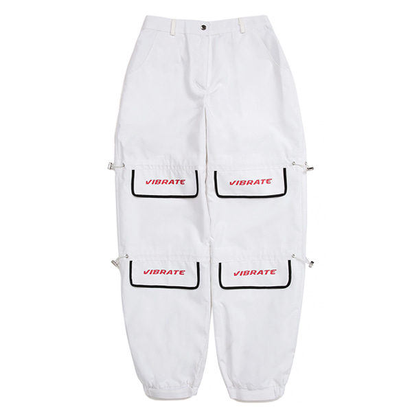 [VIBRATE] - LID STRING POINT JOGGER PANTS (woman) (WHITE)