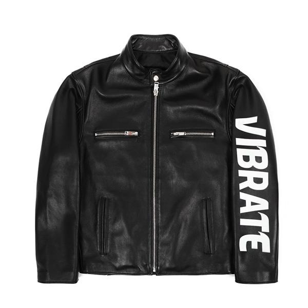 [VIBRATE] - SIDE LOGO SINGLE RIDER JACKET (BLACK)