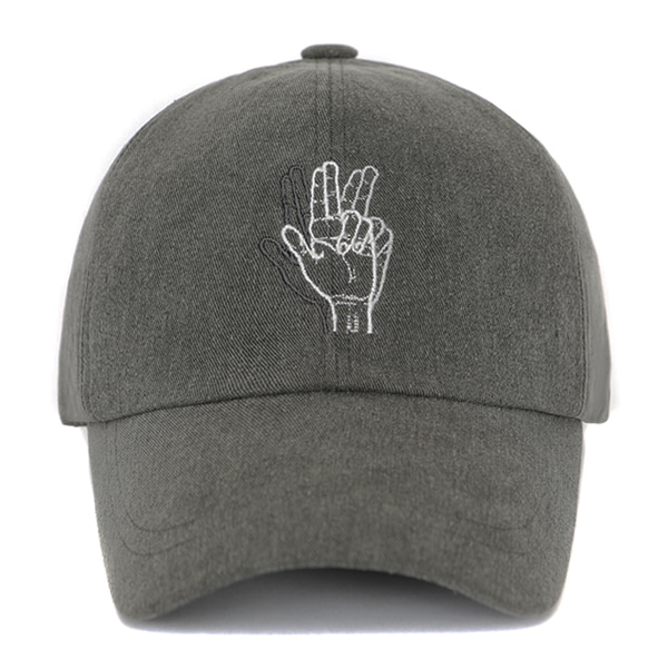 [VIBRATE] - CLASSIC HAND SIGN BALL CAP (WASHING GRAY)