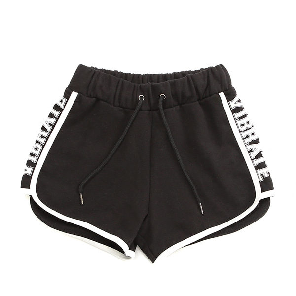 [VIBRATE] - BASIC DOLPHIN SHORT PANTS (woman) (BLACK)