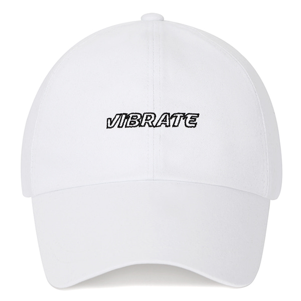 [VIBRATE] - EMPTIED LOGO BALL CAP (WHITE)