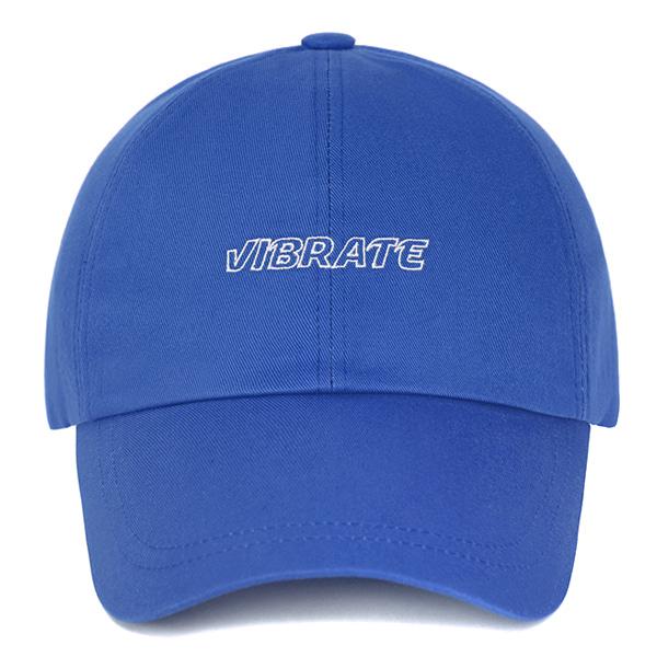 [VIBRATE] - EMPTIED LOGO BALL CAP (BLUE)