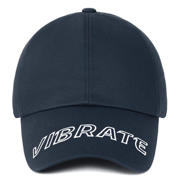 [VIBRATE] - VISOR EMBROIDERY BALL CAP (NAVY)