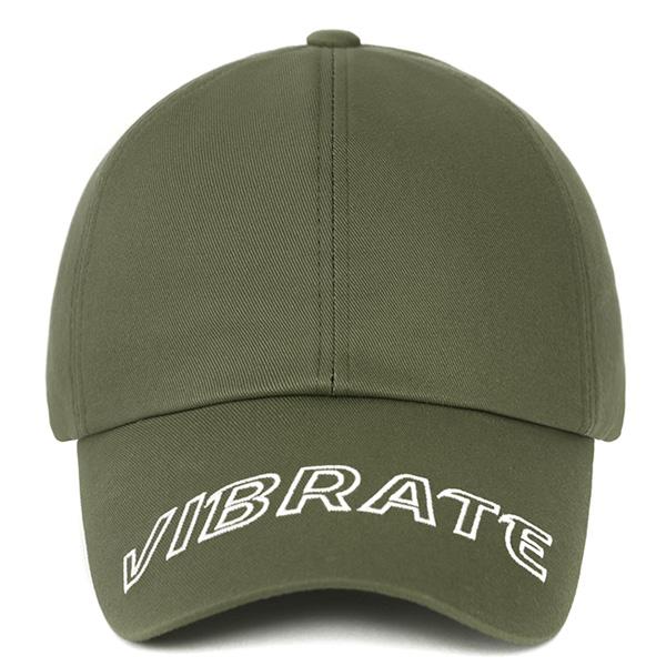 [VIBRATE] - VISOR EMBROIDERY BALL CAP (KHAKI)