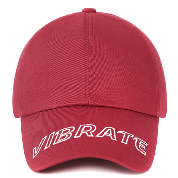 [VIBRATE] - VISOR EMBROIDERY BALL CAP (RED)