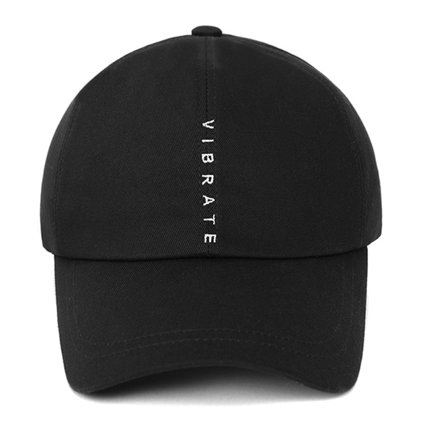 [VIBRATE] - VERTICAL LOGO BALL CAP (BLACK)