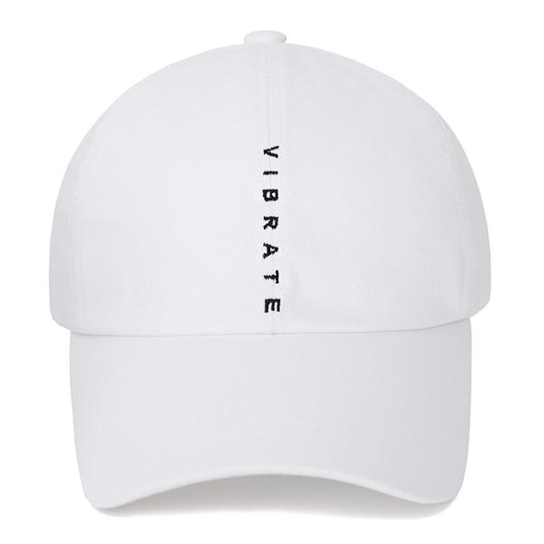 [VIBRATE] - VERTICAL LOGO BALL CAP (WHITE)