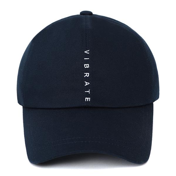 [VIBRATE] - VERTICAL LOGO BALL CAP (NAVY)