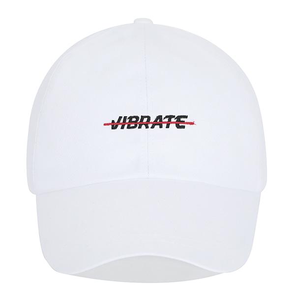 [VIBRATE] - RED CROSSLINE BALL CAP (WHITE)