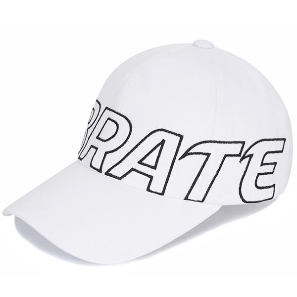 [VIBRATE] - BASIC BIG LOGO BALL CAP (WHITE)