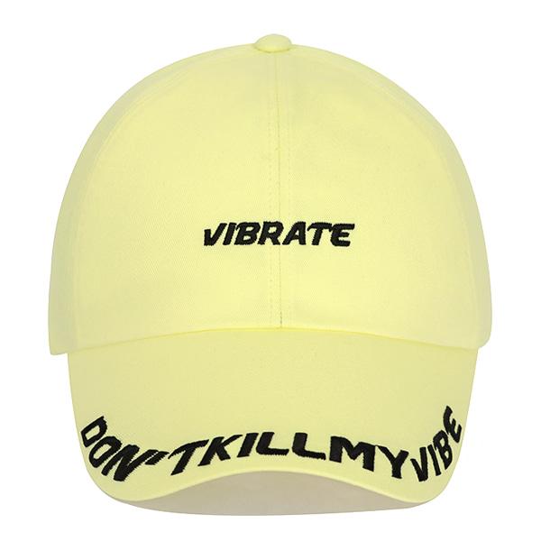 [VIBRATE] - D.K.M.V VISOR EMBROIDERY BALL CAP (YELLOW&BLACK)