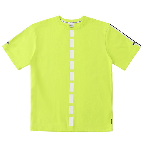 [VIBRATE] - WAVY BACK LOGO T-SHIRT (LIME)